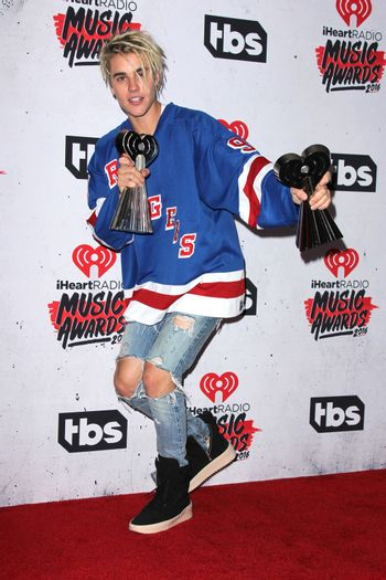 Justin Bieber at the iHeart Radio Music Awards 2016 Press Room, The Forum, Inglewood, CA 04-03-16