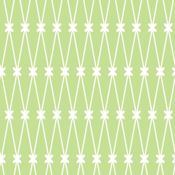 seamless background. White grid on the green background