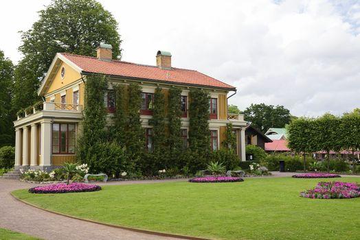 """Wooden house at """"Tradgardsforeningen"""" in Gothenburg, Sweden."""