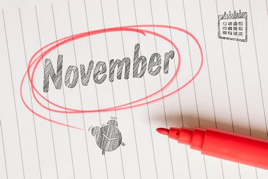 November note with sketches