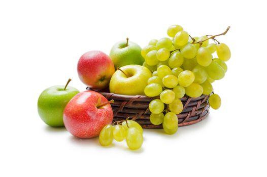 Apples and grapes arrangement