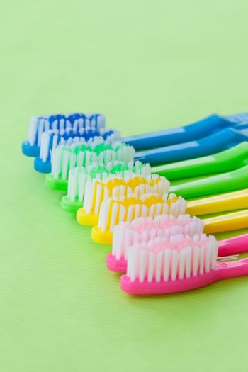Colorful tooth brushes