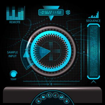 HUD touch screen panel