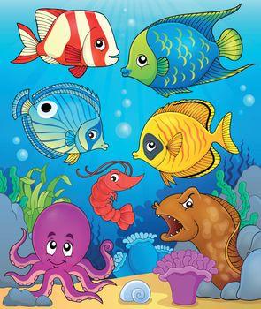 Coral fauna theme image 3