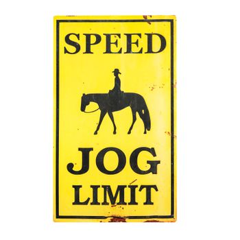Speed JOG limit sign with clipping path