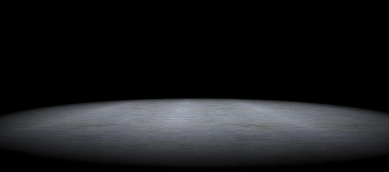 Simple cement floor background between darkness