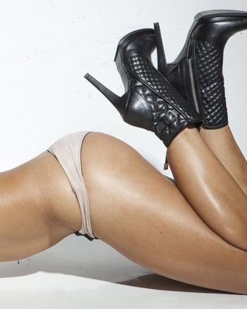 image of a sexy adult woman with underwear in a provocative attitude