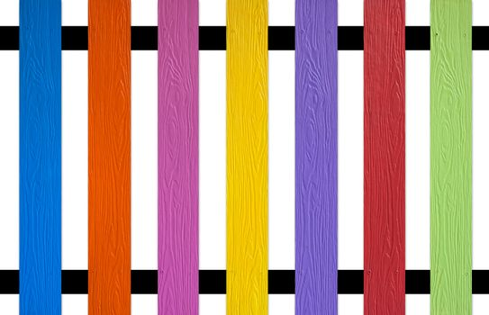 colourful picket Fence