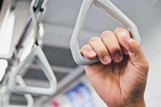 Handles in Subway Trains