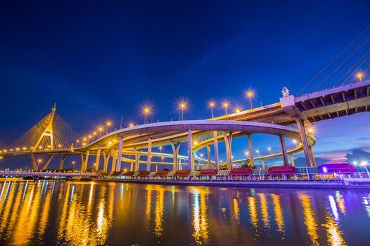 Night light Bhumibol 1 Bridge
