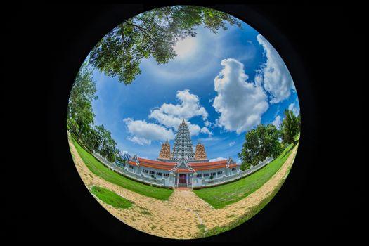 beautiful pagoda wat yan na sang wararam.