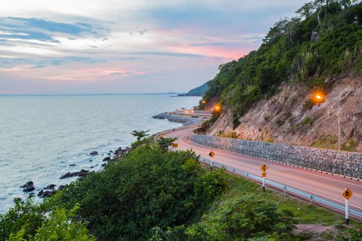 kung kraben a beautiful road to the beach is a major attraction