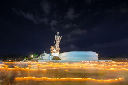 Standing Buddha Monthon visakha bucha.
