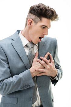Businessman Having A Chest Pain