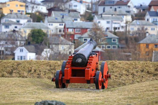 Rundtur i Trondheim en vårdag- Kanoner på Kristiansten fesning