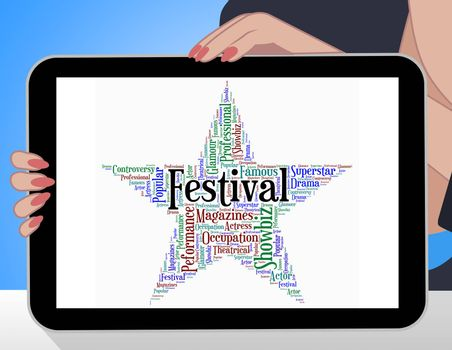 Festival Star Meaning Festive Festivities And Word