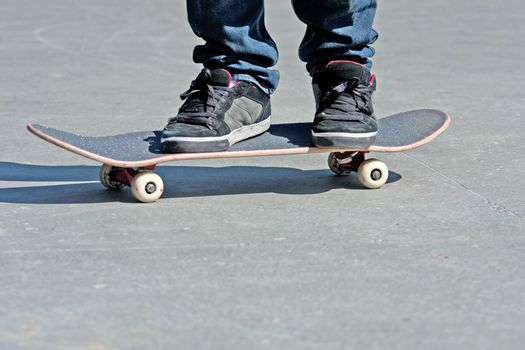Skateboarders Feet Close Up
