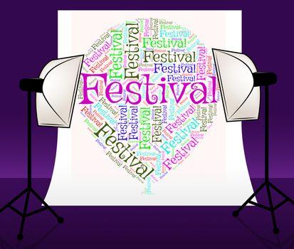 Festival Balloon Indicating Music Celebrations And Festivity