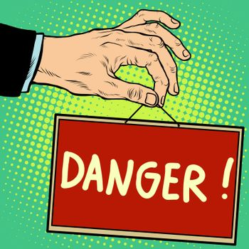 Hand sign danger