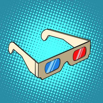 Stereo 3d glasses for cinema