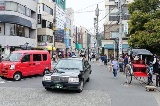 city life in kamakura,tokyo,japan