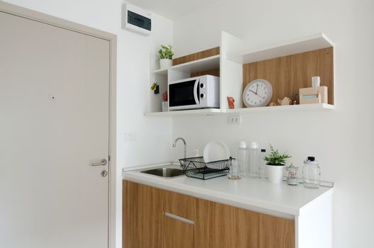 Beautiful pantry with utensil