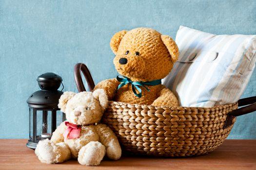 Teddy Bear In A Basket