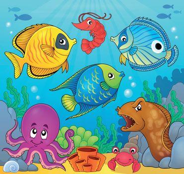Coral fauna theme image 6