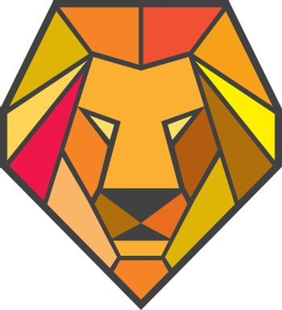 Lion Head Low Polygon