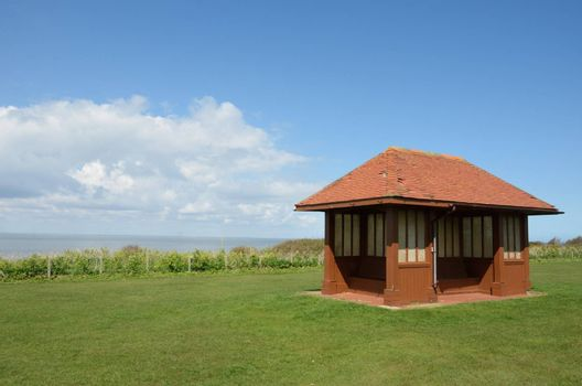 Seaside Shelter by sea in UK