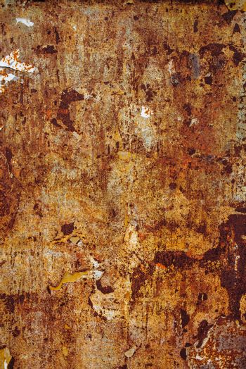 Scrap metal corroded surface