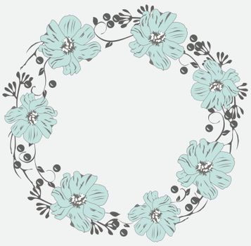 vector illustration of a floral wreath
