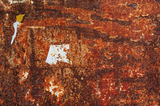 Old corroded metal plate texture