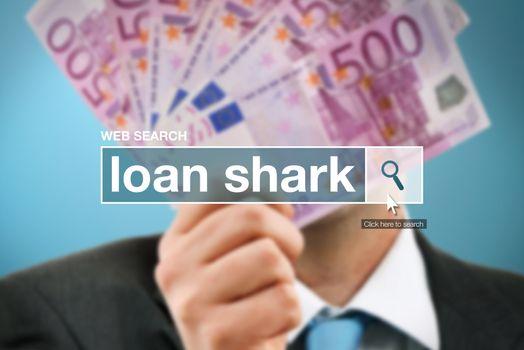 Web search bar glossary term - loan shark