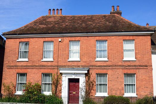 Large red brick Georgian town House