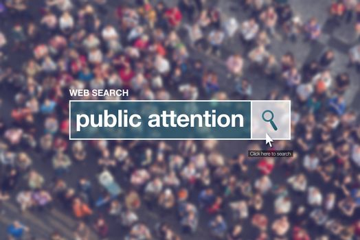 Web search bar glossary term - public attention