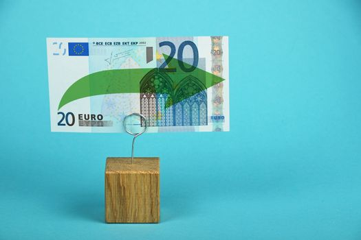 Euro stagnation illustrated over blue