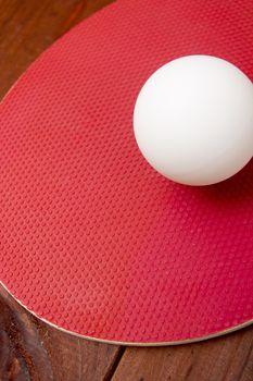 Ball ping-pong on a tennis racket