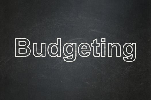 Business concept: Budgeting on chalkboard background
