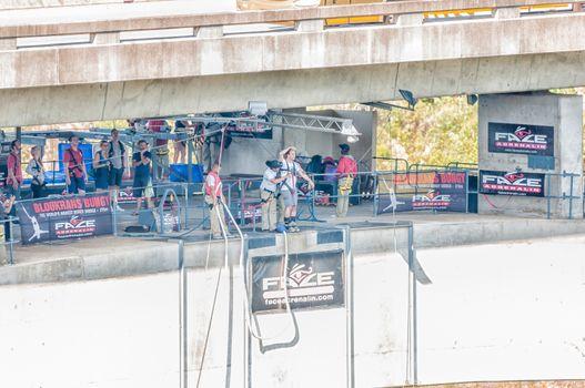 Bungee jumping at Bloukrans Bridge