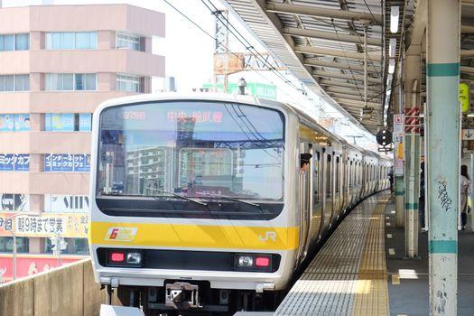 platform in Central Tokyo.