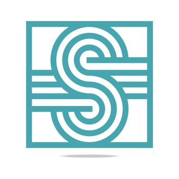 Abstract Letter S Infinity Corporation Concept