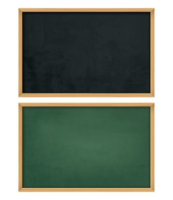 empty black board with wooden frame