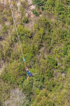 Male bungee jumper at Bloukrans Bridge