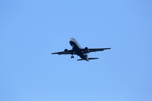 Airbus A320, registration 9A-CTK of Croatia Airlines landing at Zagreb Airport Pleso