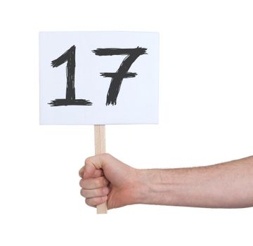 Sign with a number, 17