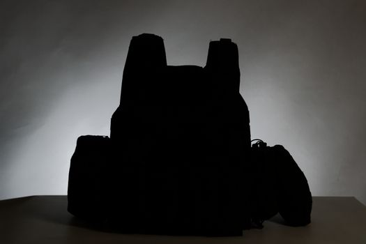 Tactical Vest for army with bulletproof and ammo silhouette
