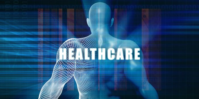 Healthcare as a Futuristic Concept Abstract Background