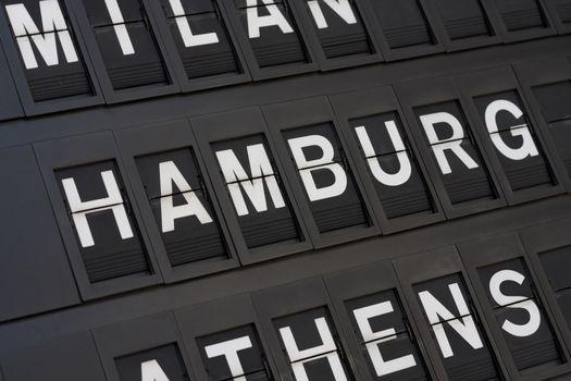 Airport Hamburg Sign