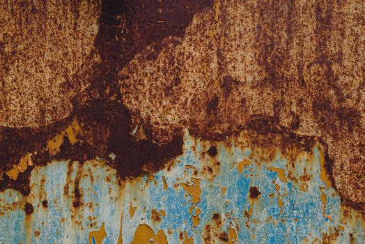 Detail of corroded metal plate